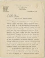 Letter from Thomas Fauntleroy to E.G. Lewis, December 19, 1923