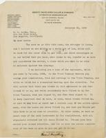 Letter from Thomas Fauntleroy to E.G. Lewis, December 21, 1923