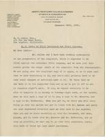 Letter from Thomas Fauntleroy to E.G. Lewis, December 28, 1923