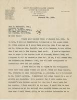Letter from Thomas Fauntleroy to Paul H. McPherrin, January 7, 1924