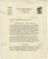 Letter from E.G. Lewis to Underwriting Subscribers of Palos Verdes Project,...