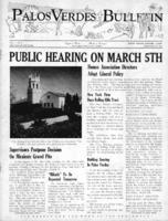 Palos Verdes Bulletin, 27 February 1941. Volume 1. Number 3
