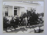Sadahei Hirose family with Nobori Sawa in front of the Hirose residence, Palos...