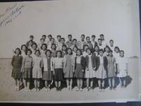 Group portrait of Junior Red Cross Representatives Concert at Poston II High...