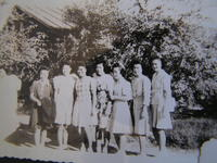 Group portrait of Kawashiri and Hatashita sisters, Poston, Arizona