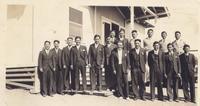 Group portrait of the Palos Verdes Young Men's Association members