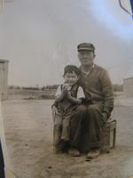 Yutaro Kawashiri and his grandson Shigeru