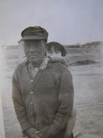 Yutaro Kawashiri and his granddaughter Chiyo