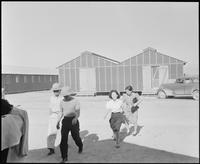 """""""Poston, Arizona. Evacuees of Japanese ancestry spending their first day at..."""