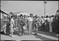 """Colorado River Relocation Center, Poston, Arizona. Left to Right: Mr. and Mrs...."