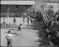 """Poston, Arizona. New Year's Fair. A basketball game was held as part of the..."