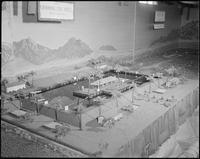 """Poston, Arizona. New Year's Fair. Model of proposed swimming pool. This model..."