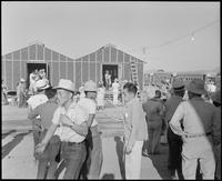 """""""Poston, Arizona. Site Number 1 Arrival of evacuees of Japanese ancestry at..."""