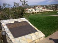 Brass plaque in Founders Park, Rancho Palos Verdes, California