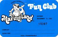 """Hanna-Barbera's Marineland Fun Club"" member card"