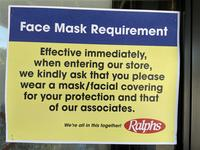 """Face Mask Requirement"" sign"