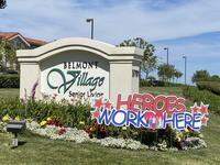 """Heroes Work Here"" sign"