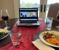 Dinner and conversation at the Easton home during the Coronavirus Pandemic